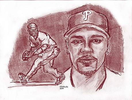 Chris  DelVecchio - Jimmy Rollins JRoll red