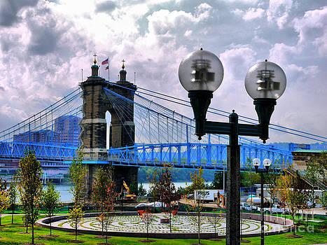 John A. Roebling Suspension Bridge by Nancie DeMellia