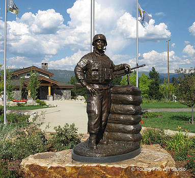 John Borbonus Bronze Memorial Statue by Lena Toritch