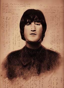 John Lennon Drawing by Chris Baggott