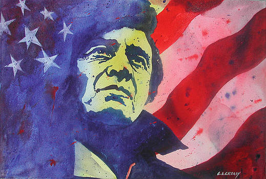 Johnny Cash  Old Glory by Chuck Creasy