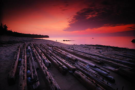 July Fourth Eighteen Eighty Three Shipwreck by Mike Thompson