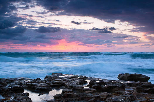 Jupiter Beach Sunrise by Larry Hughes
