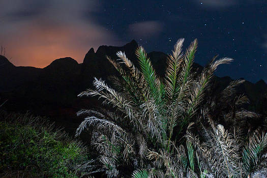 Kalalau mountains at night by Lannie Boesiger