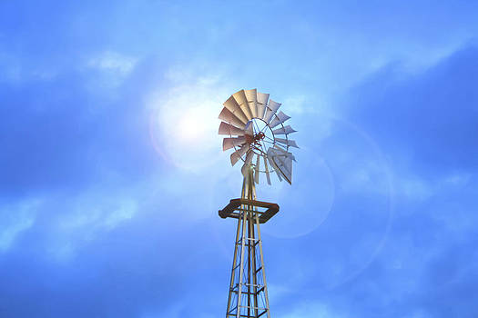 Kansas Windmill In The Sun by Barbara Dean