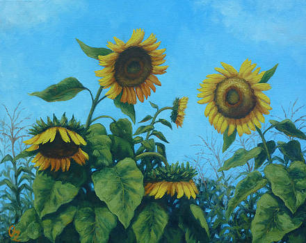 Karen's Sunflowers by Oksana Zotkina