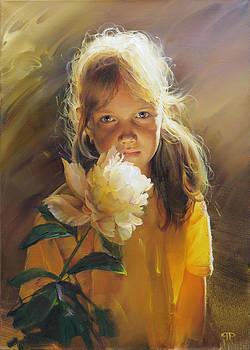 Karina - daughter s portrait by Roman Romanov
