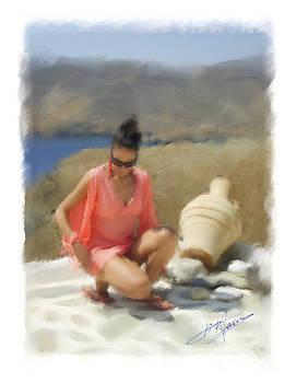 Katrin in Astypalaia by Pavlos Vlachos