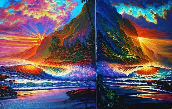 Kauai Island Sunset Diptec by Joseph   Ruff