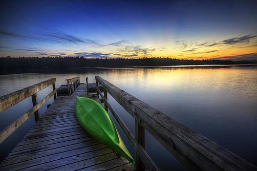 Kayak by the Lake by Zarija Pavikevik