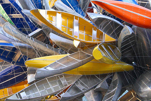 Kayak Sculpture by Sharon I Williams