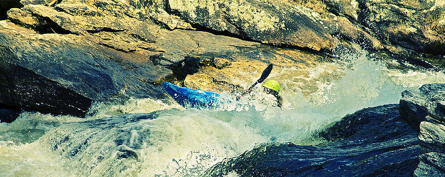 Kayaking the River Rapids by Susan Leggett