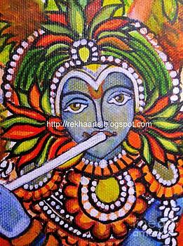 Rekha Artz - Kerala Mural - Krishna