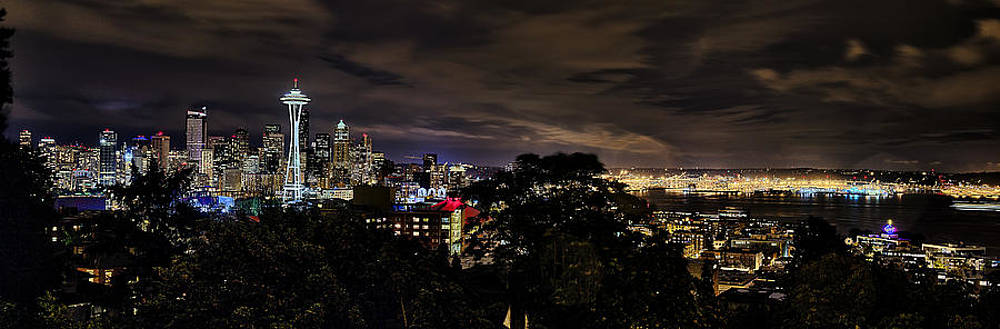 Kerry Park Night View by James Heckt