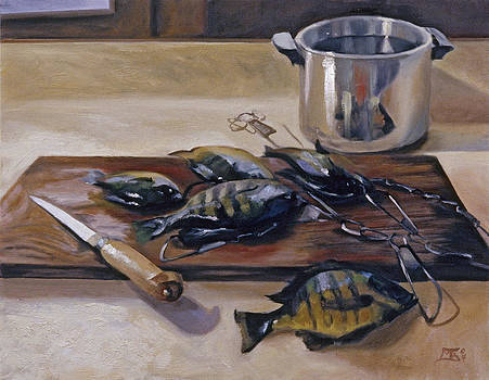 Kettle with Fish by Mary Gingrich