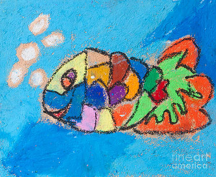 Kid crayon art  Fish in the sea by Jantima  Cha