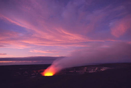 Kilauea Hawaii night by Ed Fenwick