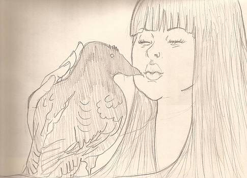 Kissing my emptiness by Lourdes  Tejeda