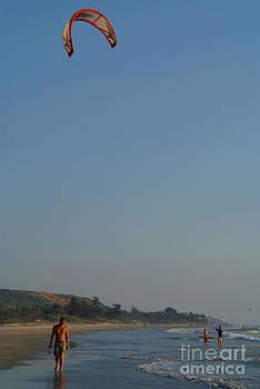 Kitesurfing at Mandrem by Serena Bowles