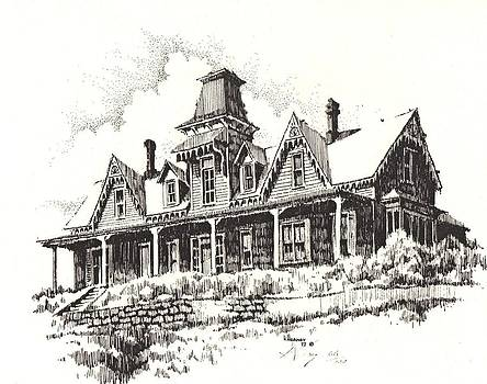 Knippenberg Mansion Glendale Ghost Town Montana by Kevin Heaney