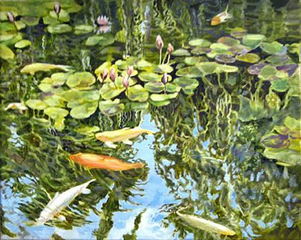 Koi Fish at The Huntington by Sharon Mills