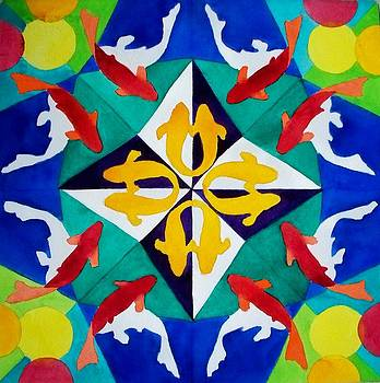 Koi Kaleidoscope by Celene Terry