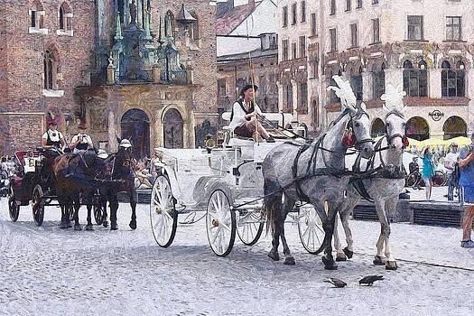 Krakow cabs by Boguslaw Florjan