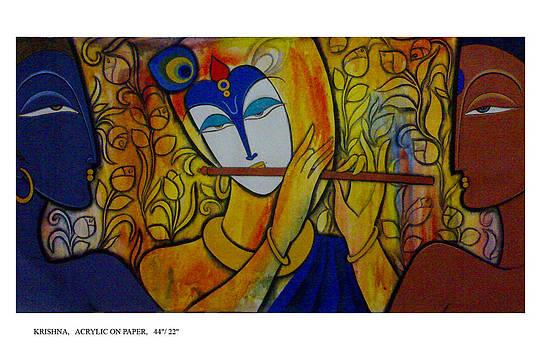 Krishna with gopi by Keshaw Kumar