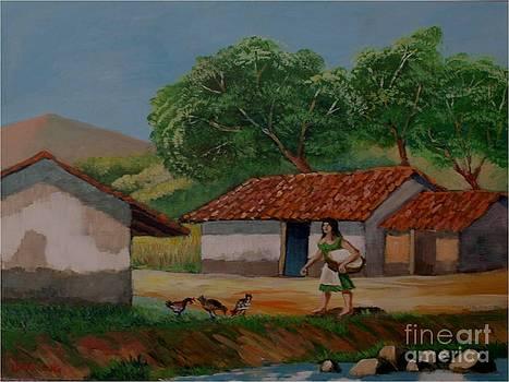 La dama del rio by Jean Pierre Bergoeing