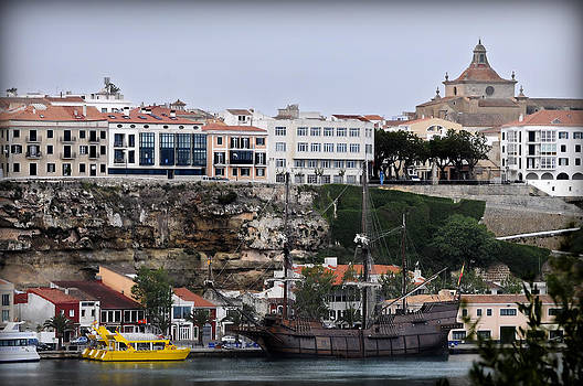 Pedro Cardona Llambias - A galleon at bottom of Port Mahon Menorca one of the largest natural harbours in the world