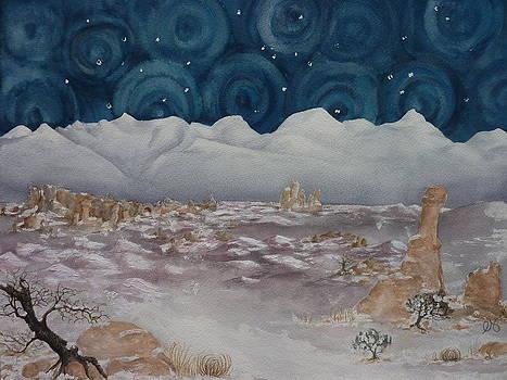 Estephy Sabin Figueroa - La Sal Mountains in the Snow