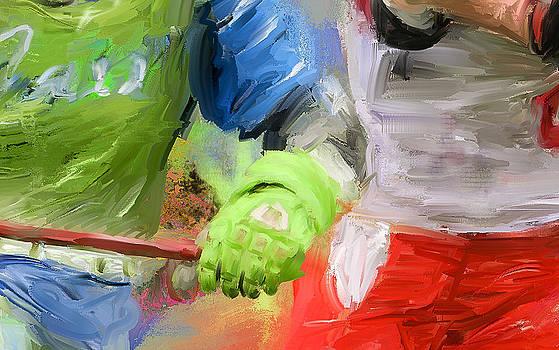 Lacrosse Glove by Scott Melby