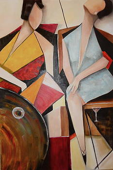Sold/Ladies be Seated by Farid  Fakhriddin 120x80 cm