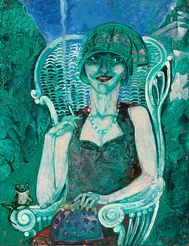 Lady in a Garden Chair by Anne Eaton Parker