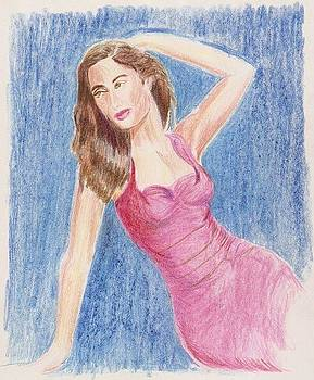 Lady in Pink dress  by Danish Anwer