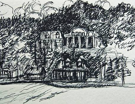 Lake George Shoreline Sketch by Nancy Mitchell