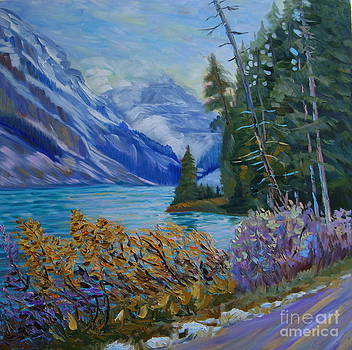 Lake Louise first snow by Efim Melnik