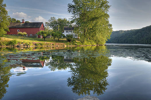 Lake Lillinonah Farm by David Clark