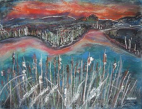 Lakeside at Sunset by Nashoba Szabol