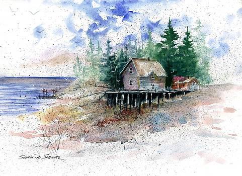 Lakeside Shack by Steven W Schultz