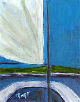 Betty Pieper - Land Ho with Sail and Sea and Sky