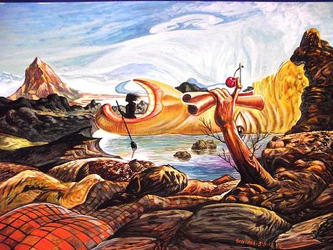 Landing In A Strange Land by Joe Santana