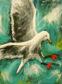 Landing Seagull by Heather  Gillmer
