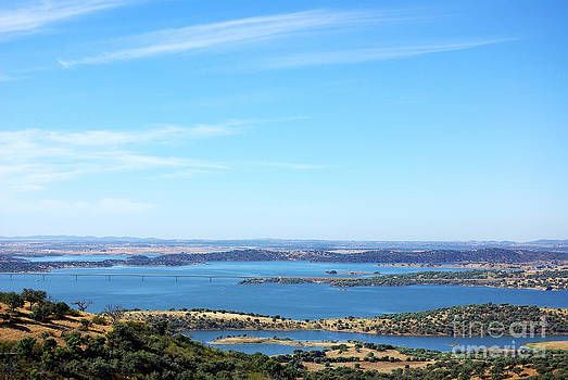 Landscape of alqueva lake near Monsaraz village. by Inacio Pires