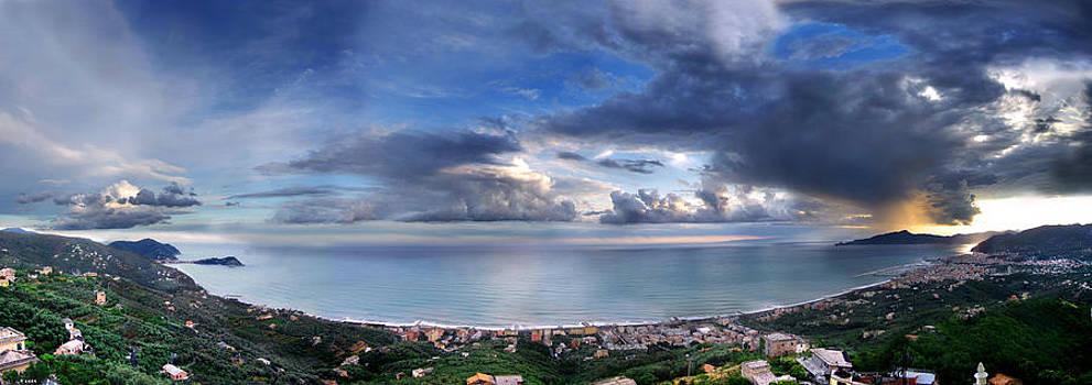 Landscape of Tigullio bay by Andrea Gabrieli
