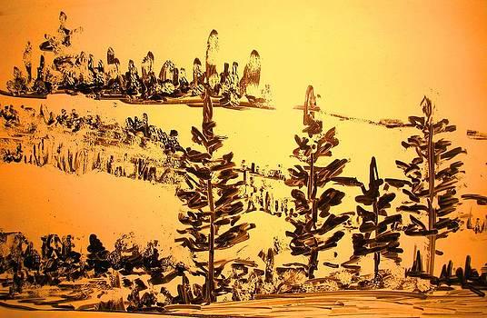 Landscape Sketch 3 by Hema Rana