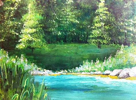 Landscape with Water by Cristy Crites