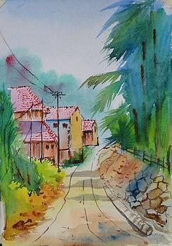 Lane at Diveaagar by Vijayendra Bapte