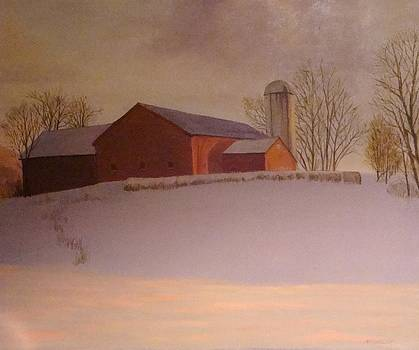 Late Winter at the Lufkin Farm by Mark Haley