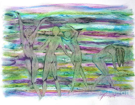 Lavender Four by Linda May Jones